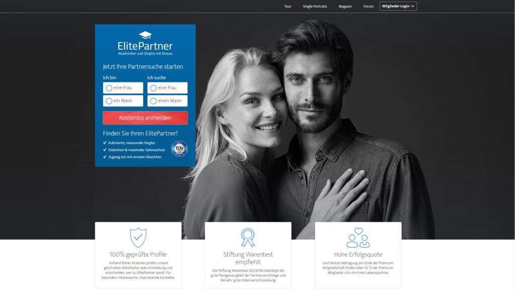 Elitepartner.de screenshot - Singlebörse