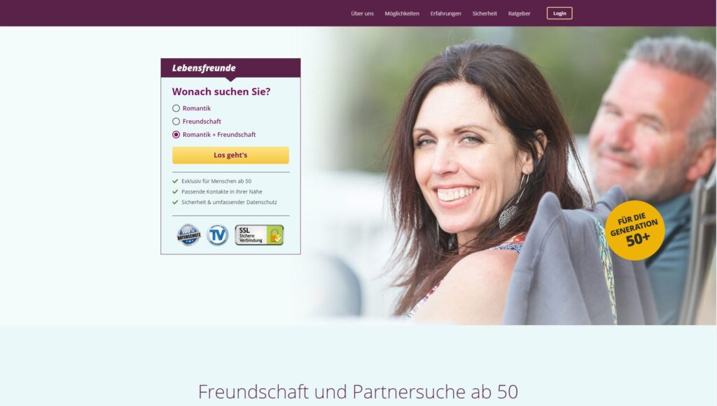 Kostenlose dating-sites für senioren