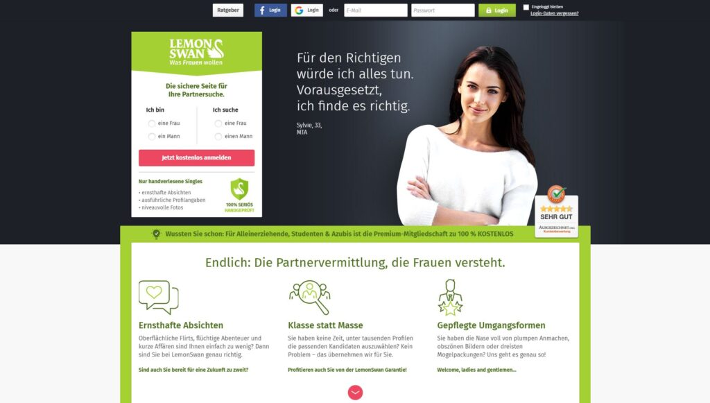 Sieben Plus-Dating-Website