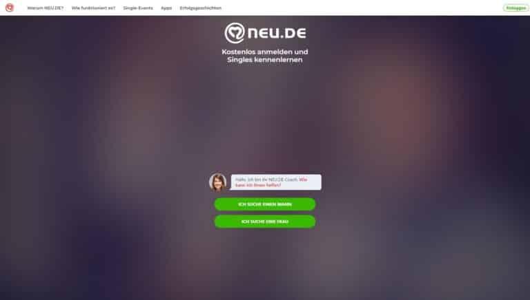 Neu.de screenshot - Singlebörsen