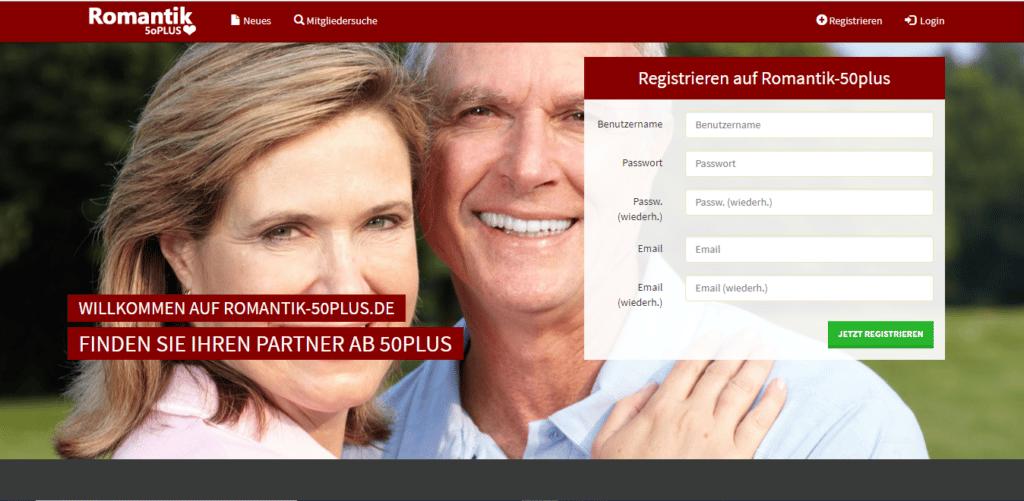 Romantik50plus - übersicht über singlebörse for Senioren