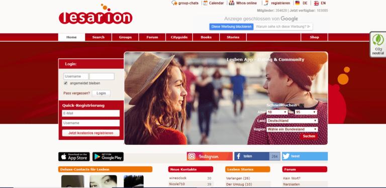 Lesarion - Gay Dating - übersicht screenshot