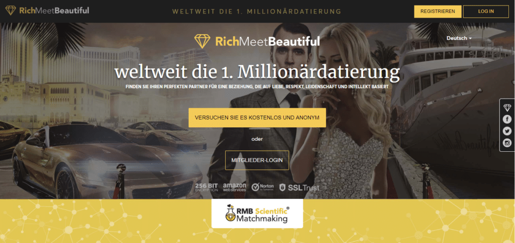 RichMeetBeautiful - Übersicht Sugar-Dating-Portale screen