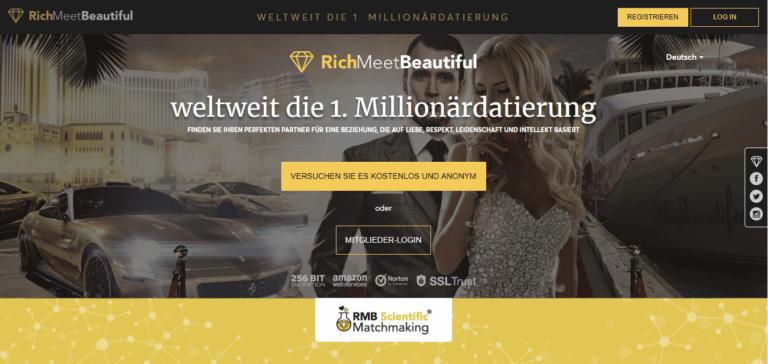 RichMeetBeautiful - Übersicht Sugar-Dating-Portale screen