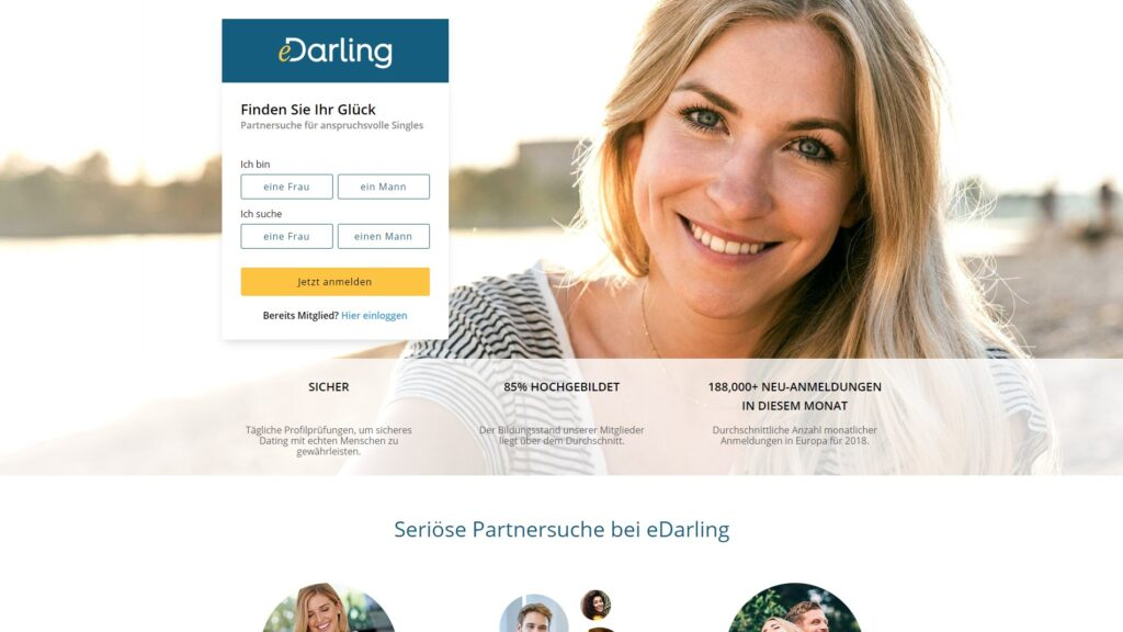 eDarling - Seriöse Singlebörsen