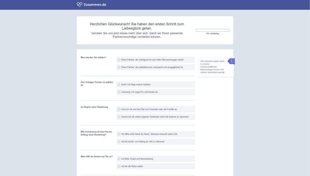 Zusammen.de - Registrierung